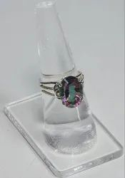 Mystic Topaz 925 Sterling Silver High End Furnished Rings