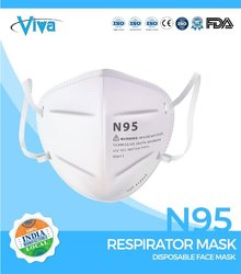 Viva White Anti Pollution Face Mask, Number of Layers: 5
