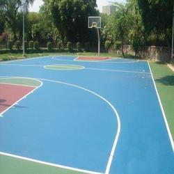 Synthetic Basketball Flooring Service