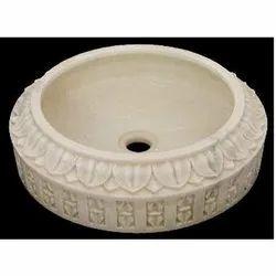 Capstona White Marble Wash Basin