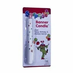 Happy Birthday Banner Candle