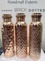 Diamond Burfi Brick Pine Copper Water Bottle, For Home