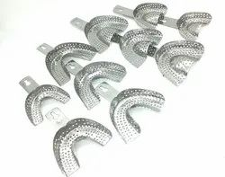 ADDLER Dental Metal Impression Tray Pack of 10 Pieces