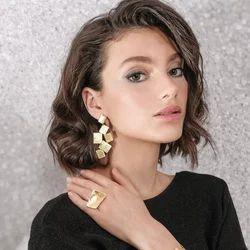 Gold Plated Geometric Earrings