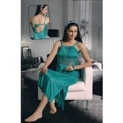Sea Green Designer Nighty