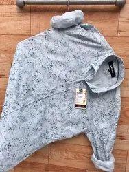 Printed Collar Neck Latest Men's Multi Brand Print Shirts,
