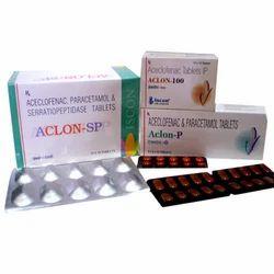 Aclon-Sp (Alu-Alu) Tab(Aceclofenac 100 mg Serra 15 mg Para 325 mg)