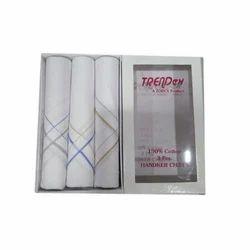 White Cotton 3 Peace Handkerchief Set