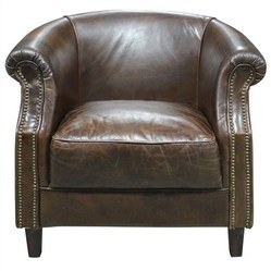 Vintage Leather Single Seater Sofa, Leather Furniture