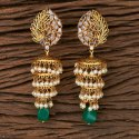Kundan Matte Gold Plated Jhumki Earring 300347