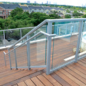 Clove Aluminum Glass Railing