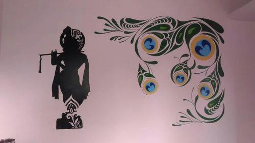 Multicolor Krishna Wall Painting Strocurve Id 15812769233