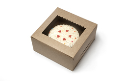 Kraft Cake Box with Window 12x12x4