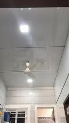 Kitchen Glossy White ACP Ceiling Work