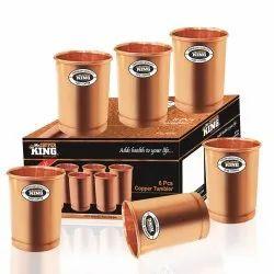 6Pcs Copper Tumbler Glass Set