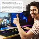 ROQ 31.5x11.8 inch Soft LED Gaming Keyboard Mat with 10W Wireless Charging Large Mousepad