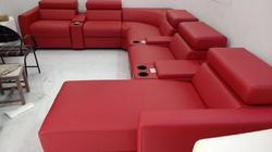 Motorized Lofty Dreams Red Recliner Sofa for Hotel