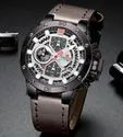Round Brown Nf9159 Naviforce Multi Function Luxury Chronograph Watch, For Personal Use