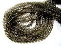 Smoky Quartz Micro Faceted Gemstone Beads