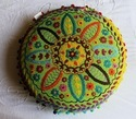 Multi Color Round Cushion cover
