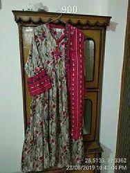 Rayon Fabrics Girls Frock Set, Size: S, M, L