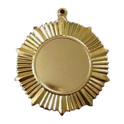 Round Plain Gold Plated Medal