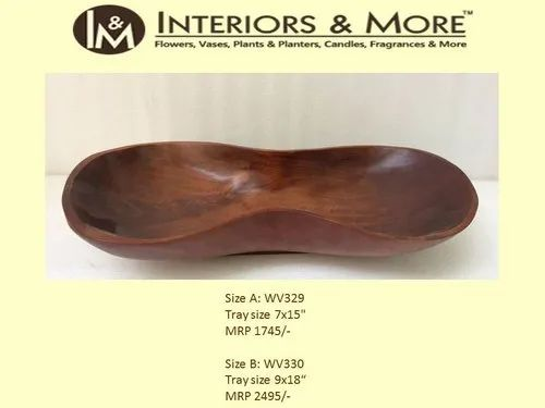 Wooden Tray, for Home, Size: 7 X 15 Inch