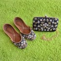 Party Wear Punjab Jutti With Matching Clutch