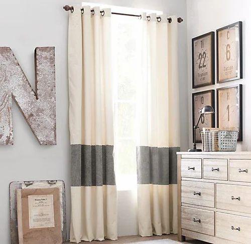 strip window curtains