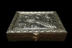Peacock Embossed Dry Fruit Box