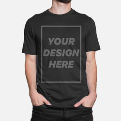 Polo Neck And Round Plain And Printed Customize Cotton T-shirt
