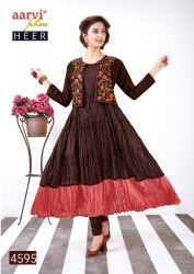Beautiful Stylish Colorful Fancy Party Wear & Ethnic Wear & Ready To Wear Cotton Mul Kurtis