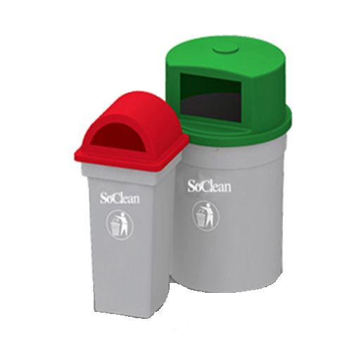 Stainless Steel, Plastic SoClean Outdoor Dustbins
