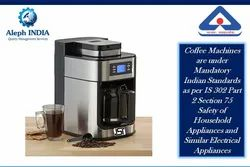 ISI Mark Certification for Coffee Machine