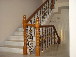 Polished Wood Handrail