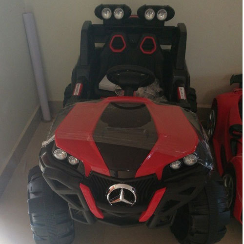 Red And Black Kids Electric Jeep