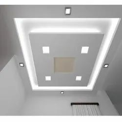Color Coated POP False Ceiling, For Residential, Thickness: 15 mm
