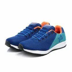 Mens Royal Blue Sea Green Orange Synthetic Walking Shoes