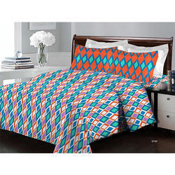 Bombay Dyeing Beautiful and Modern Designer 140 TC 100% Cotton Double Bedsheet with Two Pillow Cover