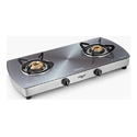 Silver Two Burner Gas Stove