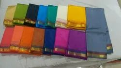Alankrita Party Wear Dupion Silk Saree, Length: 6.3 m (with Blouse Piece)