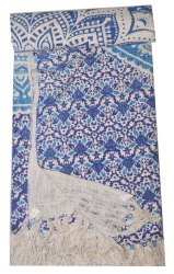 India Cotton Throw Woven Cotton Rug Handmade Block Print