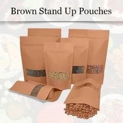 Brown Stand Up Pouches with Zipper