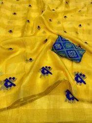 Fabric Kota Doria Saree