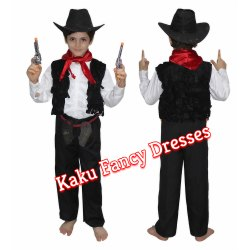 Kids Cow Boy Fancy Dress Costume