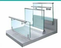 Bar Balcony Aluminium Glass Railing, Grade: 6063t6
