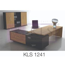 L Shape Partical Board KLS-1241 Director Tables, For Corporate Office, Size: 6X2.5