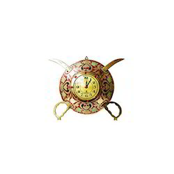 8 Metal Dhal Clock With Talvar Small Dail