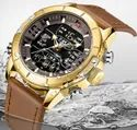 Naviforce Watches Fashion Quartz Men Watch Leather Nf9153l/available In 5 Colors.