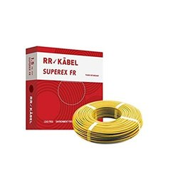 RR Kabel Color: Yellow Superex FR Electric Wire, House Wiring, Crossectional Size: 1.5 Sqmm